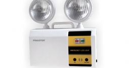 How do we confirm the light intensity of the fire emergency light?